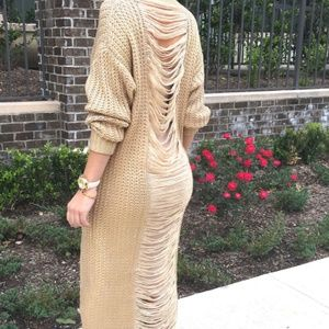 Dresses & Skirts - Kosimos Gold Self Destruct Sweater Dress *NWT